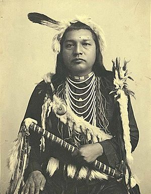Paul Shoaway, Umatilla Indian, in ceremonial dress, Washington (4951753872)