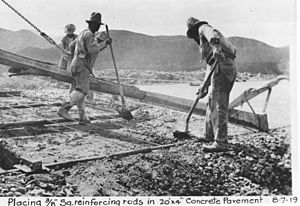 Ridge Route construction reinforcement 1919