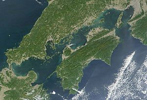 Seto Inland Sea satellite