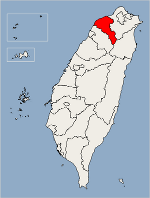 Taoyuan County Location Map