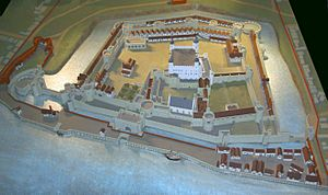 Tower of London model close up