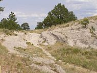 Trail ruts State Hist site Wyoming