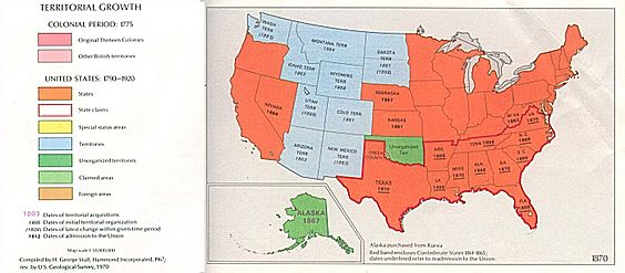 USA Territorial Growth 1870