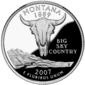 Montana quarter dollar coin