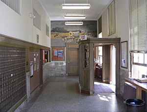 Crawford, Nebraska post office interior 1