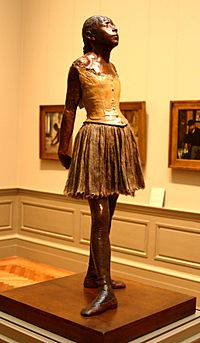Dancer sculpture by Degas at the Met