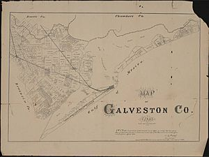 Map of Galveston County