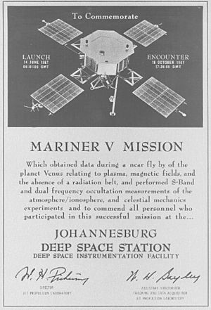 Mariner 5 plaque