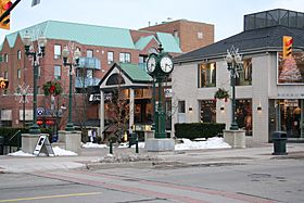 The downtown area of Oakville