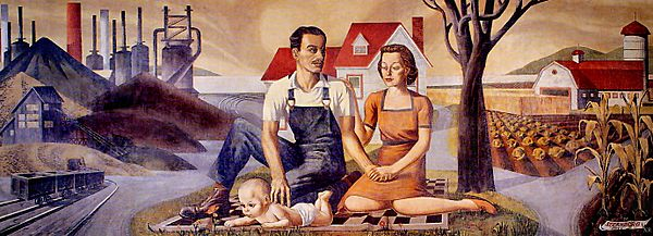 The Family Industry and Agriculture,WPA by Harry Sternberg, 1939