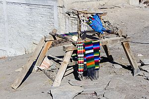 Traditional loom at Ranipauwa-Muktinath, Nepal-WLV-1197