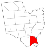 Location within Saratoga County