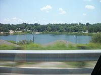 Lake Sunnyside from FL 50 in Clermont, Florida