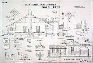 Norah Head Light keepers quarters plans, 1900