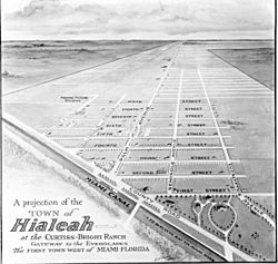 Projection of Hialeah in 1922