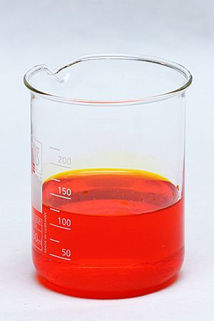 Reaction between potassium dichromate and sulfuric acid (1)