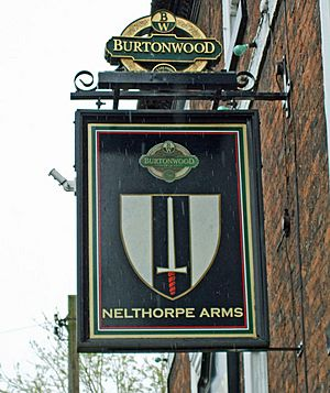The Sign of the Nelthorpe Arms - geograph.org.uk - 776680