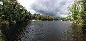 2014-08-28 12 53 18 Panorama from the south end of Round Pond in Berlin, New York.JPG