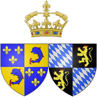 Arms of Marie Anne Victoire of Bavaria as Dauphine of France