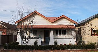 Bungalow style housing in Dubbo, NSW