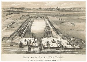 HOWLAND GREAT WET DOCK IN THE PARISH OF ROTHERHITHE