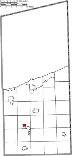 Location of Rock Creek in Ashtabula County