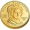 Martha Washington First Spouse Coin obverse