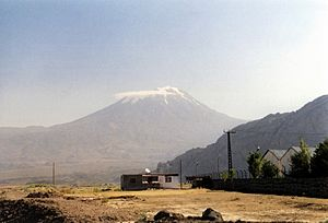 Mount ararat from east of dogubeyazit