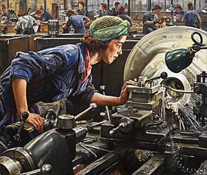 Ruby Loftus screwing a Breech-ring (1943) (Art. IWM LD 2850)
