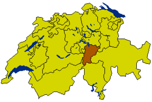 Swiss Canton Map UR