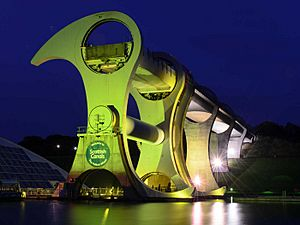 The Falkirk Wheel at Night (geograph 4185695)
