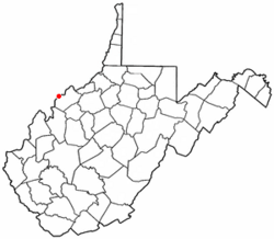 Location of Blennerhassett, West Virginia