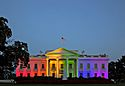 White House rainbow colors to celebrate June 2015 SCOTUS same-sex marriage ruling