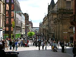 (looking down) Buchannan Street, Glasgow