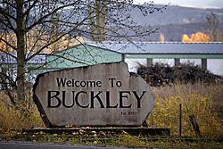 Buckley Welcome Sign