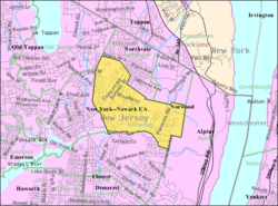 Census Bureau map of Norwood, New Jersey