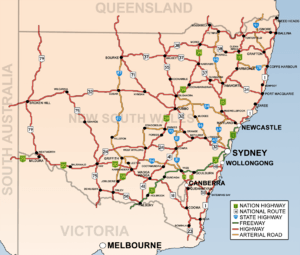 Map of NSW Highways