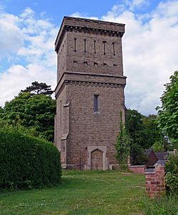 Tower at Ashby de la Zouch Cemetery - geograph.org.uk - 822289