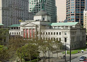 Vancouver Art Gallery Robson Square from third floor