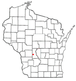 Location of Hustler, Wisconsin