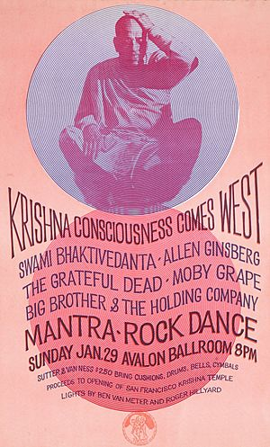 1967 Mantra-Rock Dance Avalon poster