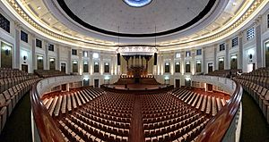 Auditorium at the Brisbane City Hall panorama