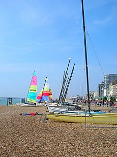 Boats on Brighton Beach - geograph.org.uk - 242094