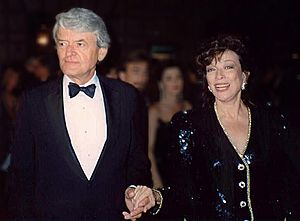 Hal Holbrook and Dixie Carter at the 41st Emmy Awards