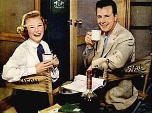 June Allyson and Dick Powell 1952