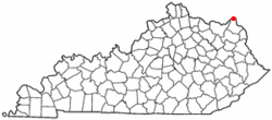 Location of South Shore, Kentucky