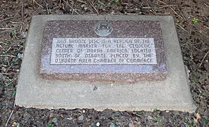 North America geodetic center - replica plaque 1