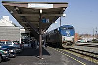 Amtrak Carolinian Stopped at Raleigh NC