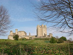 Conisbrough Castle Doncaster winter time