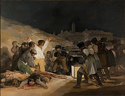 El Tres de Mayo, by Francisco de Goya, from Prado in Google Earth